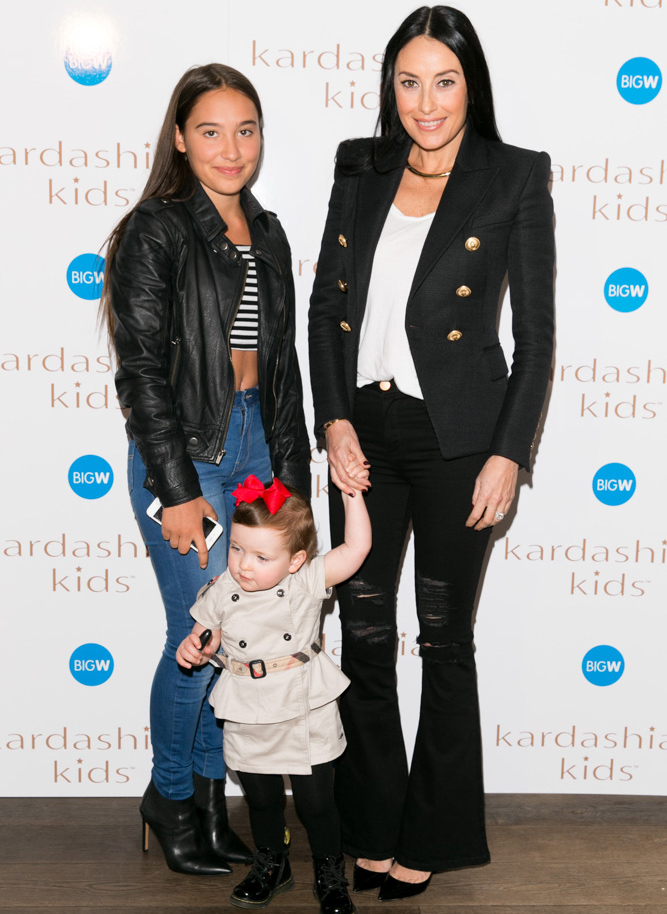 KardashianKidsSydneyLaunch-290715-Socials-67-Terry-Biviano-with-Azura-and-Sienna