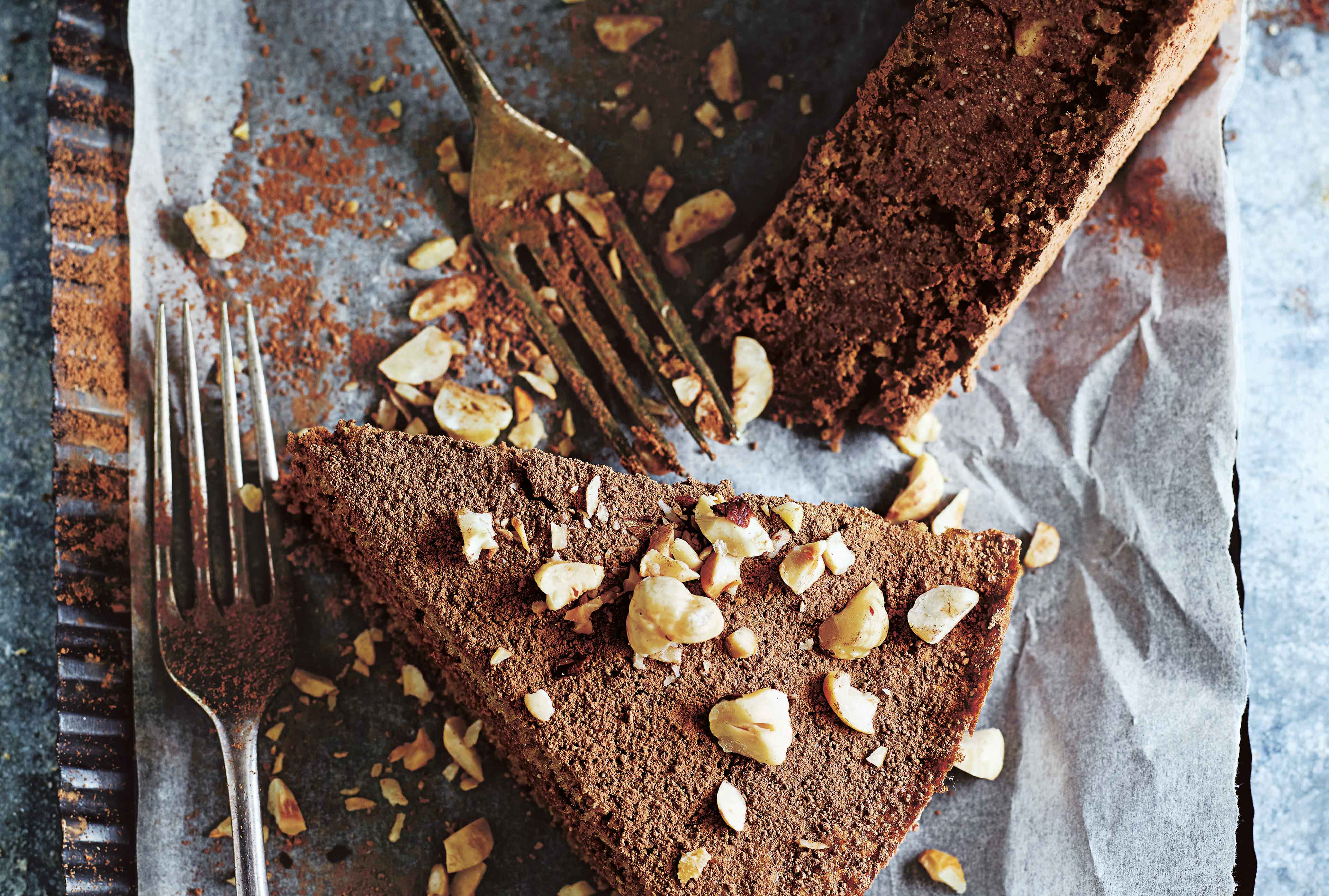 Donna Hay's hazelnut, date and cacao mousse cake