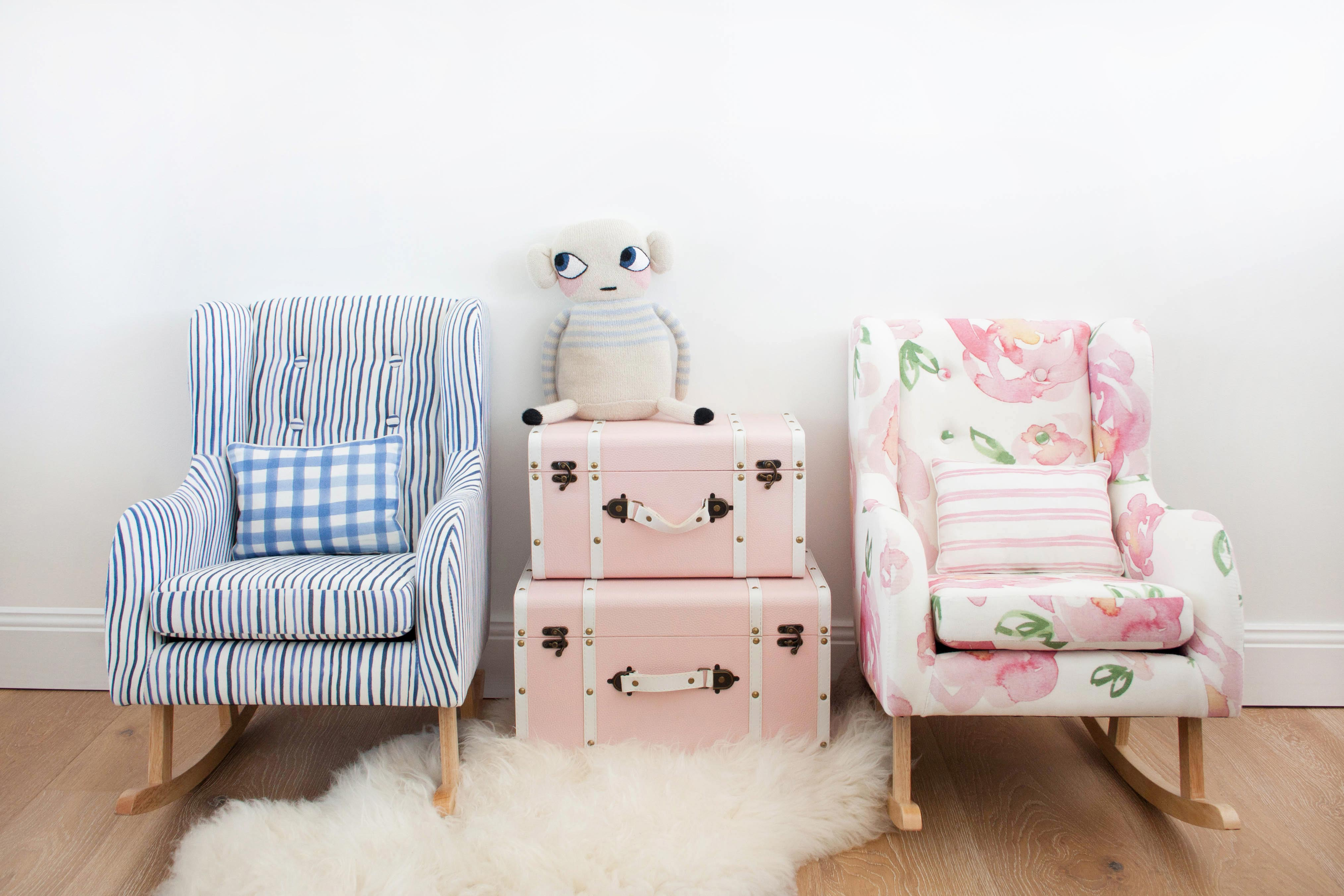 These are the most beautiful mini rocking chairs we've ever seen