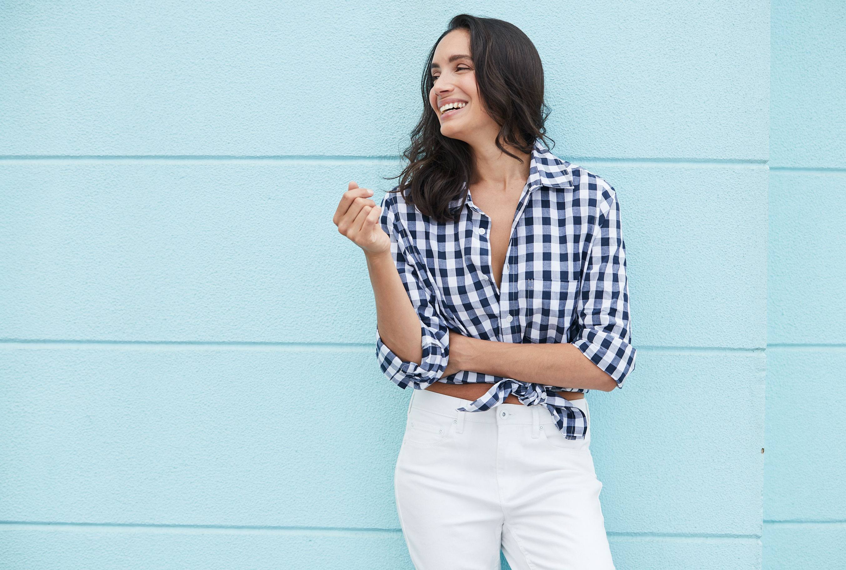 3 Ways To Style A Gingham Shirt With Natalie Decorte