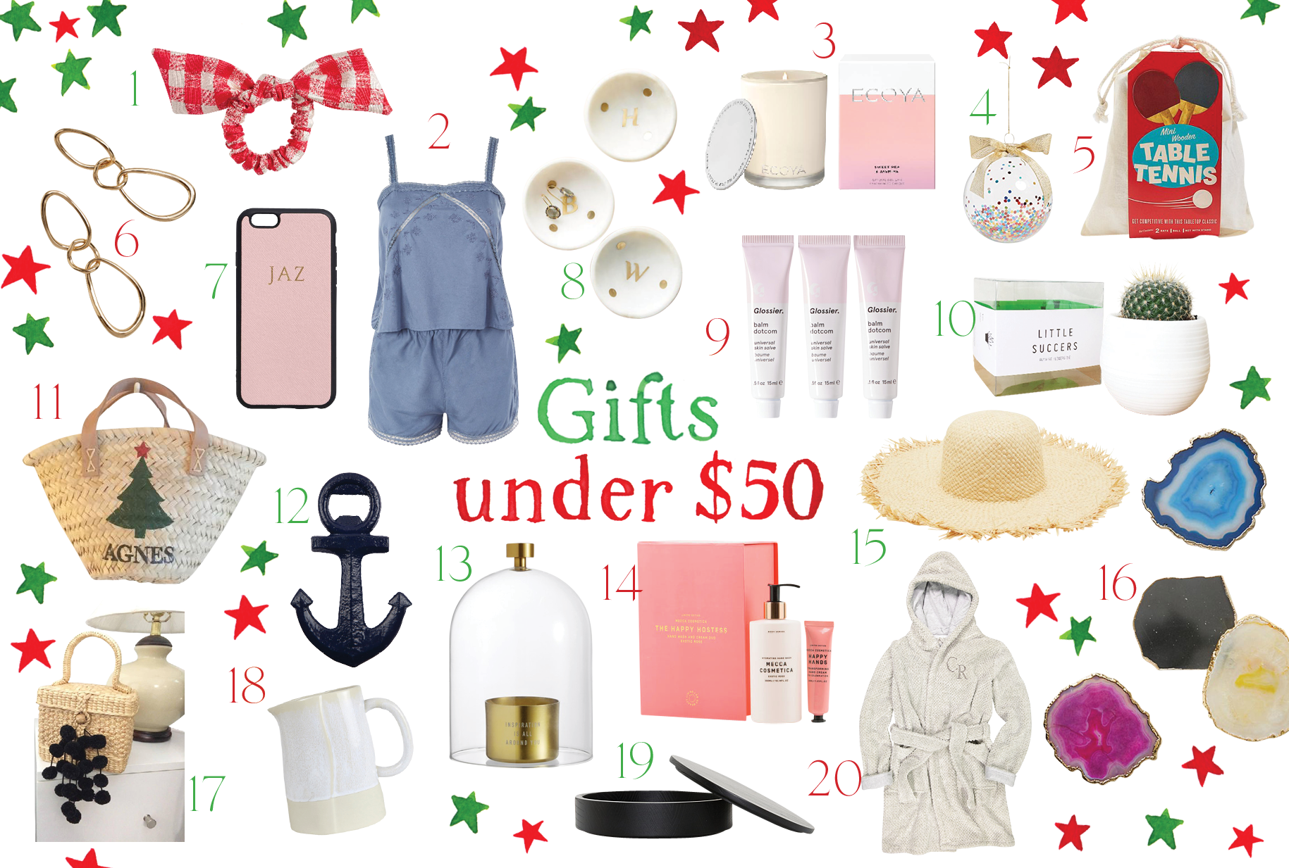 The GRACE Christmas Gift Guide: Under $50 Foolproof Buys