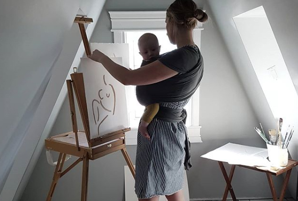 Artist Kayla Gale is Exploring Motherhood One Paint Stroke at a Time