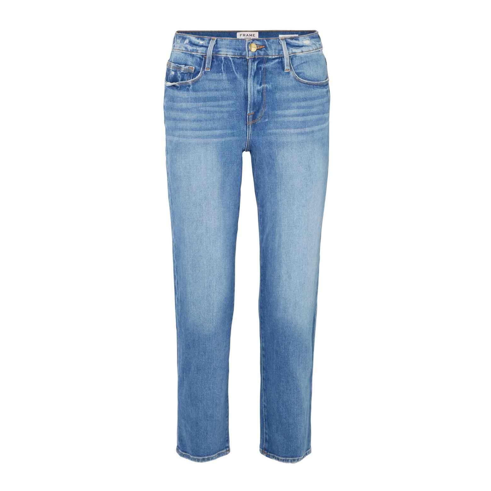 FRAME Le Nouveau Mid Rise Straight Jeans
