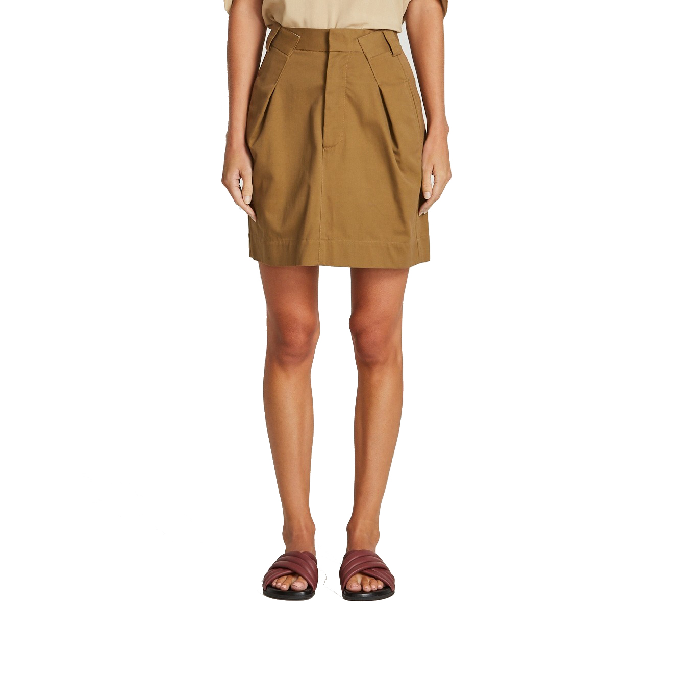 Bassike Peached Cotton Pleat Skirt