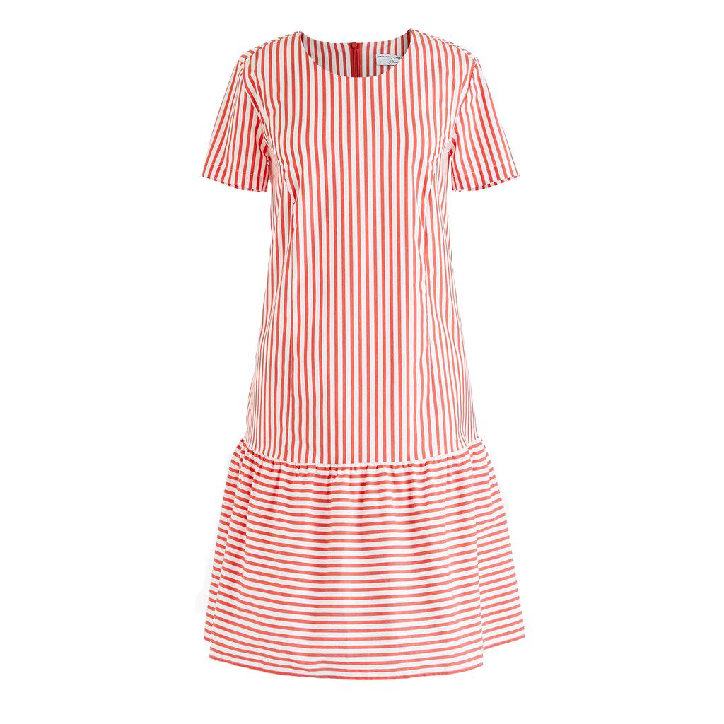 Universal Standard For J.Crew Poplin Drop-waist Dress