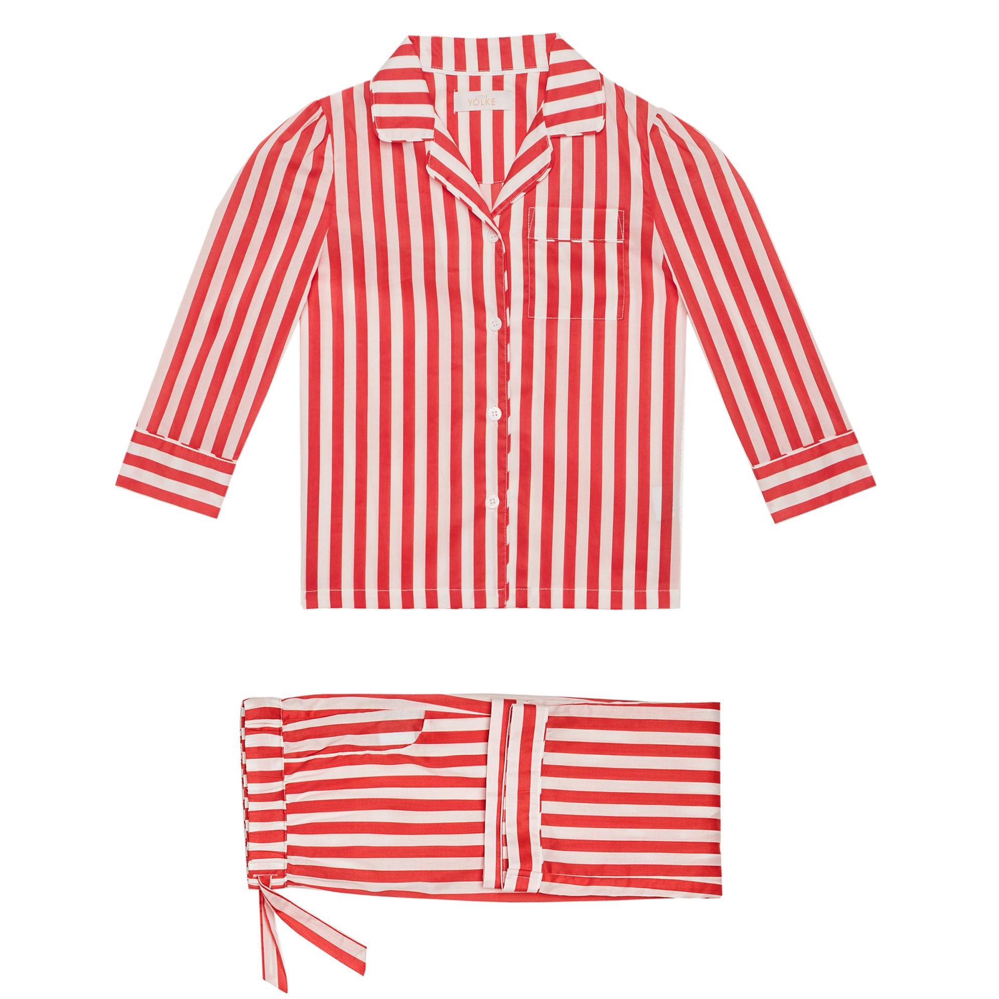 Yolke Little Candy Cane Pyjama Set