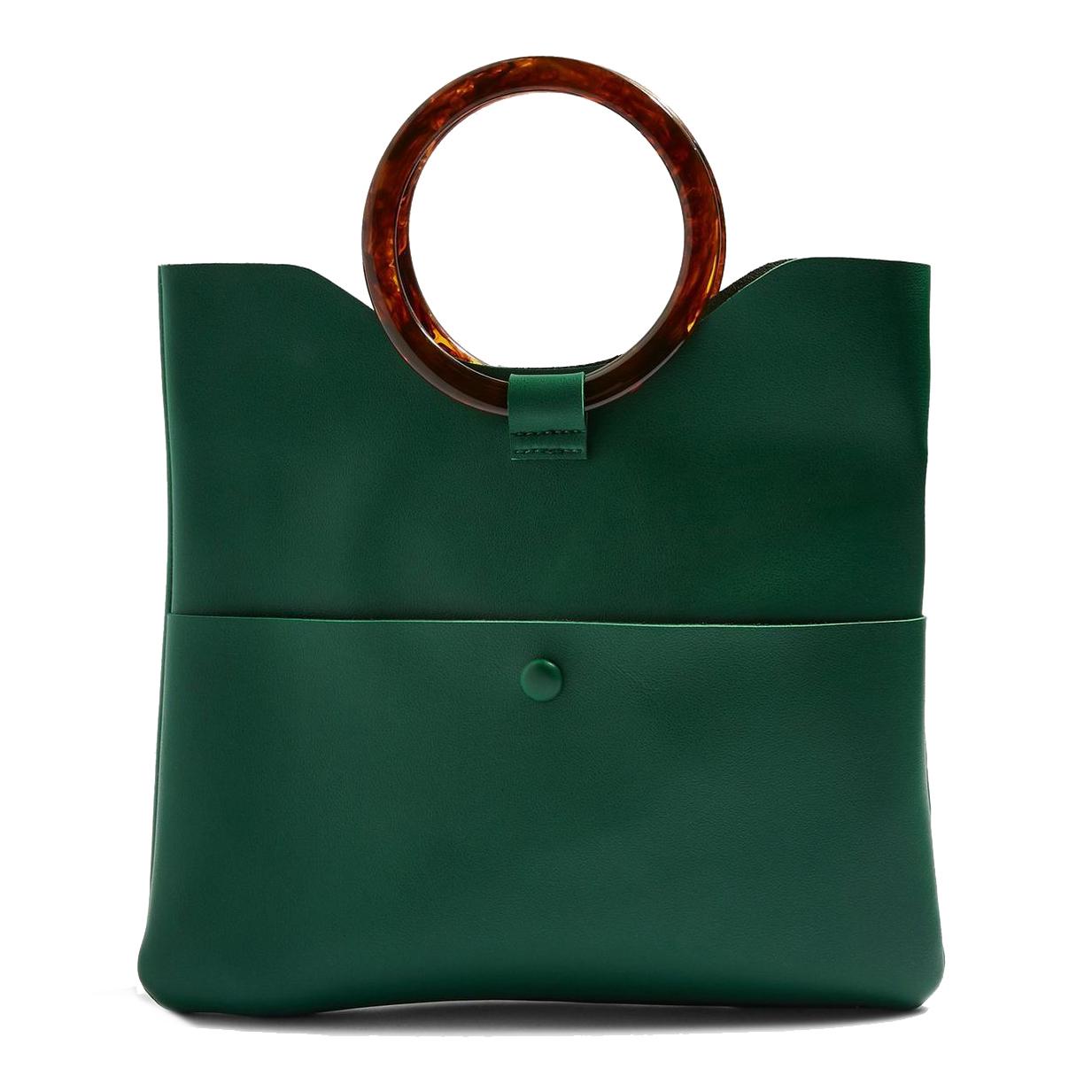Topshop Cookie Green Clutch Bag