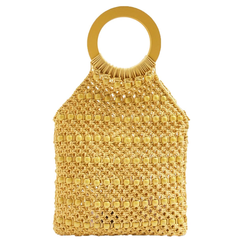 Topshop Mini Mykonos Beaded Tote Bag