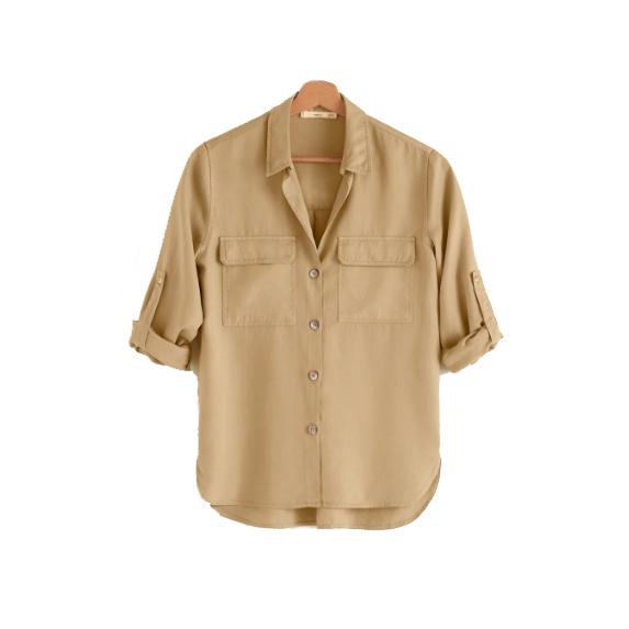 Mango Chest-pocket soft shirt