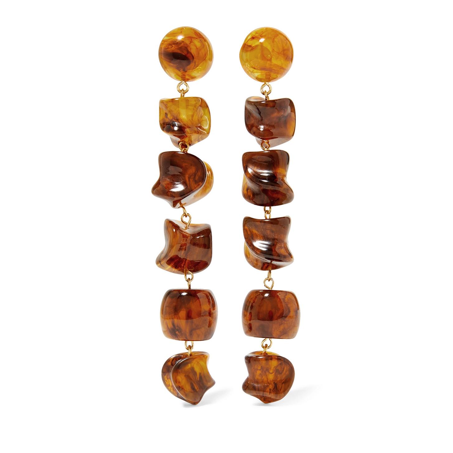 Cult Gaia Leo Gold-tone Resin Earrings