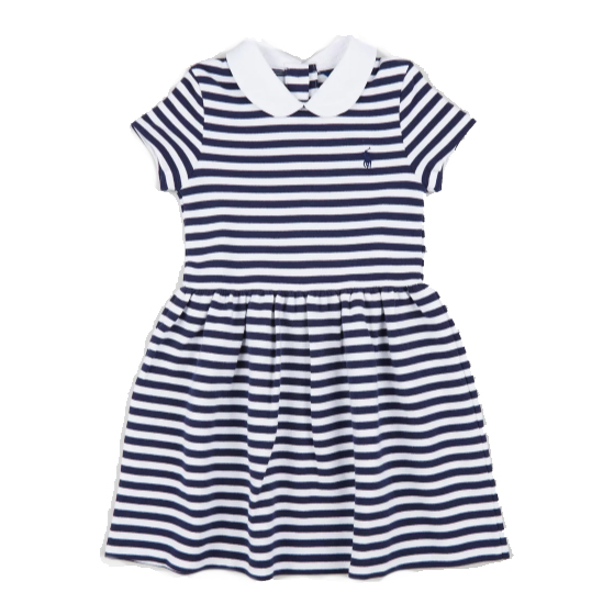 Polo Ralph Lauren Structured Stripe Dress – Kids