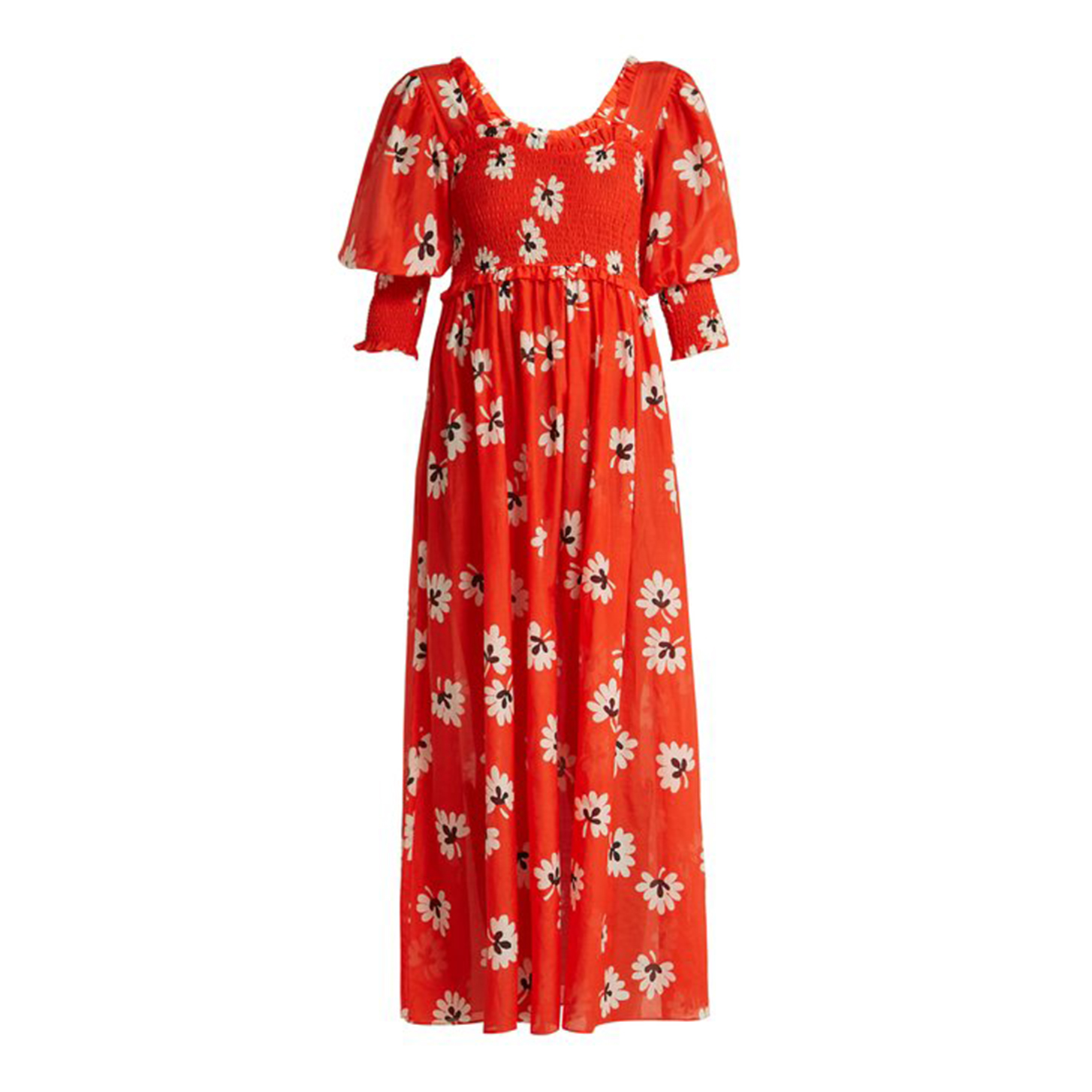 GANNI Linaria Floral-print Dress