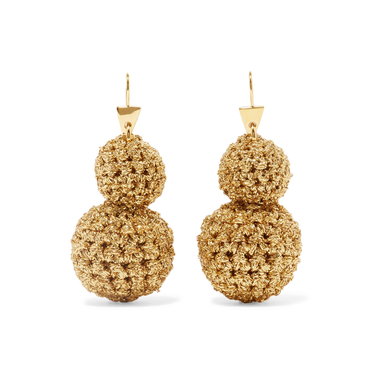 Lucy Folk Rock Formation Gold-plated Earrings