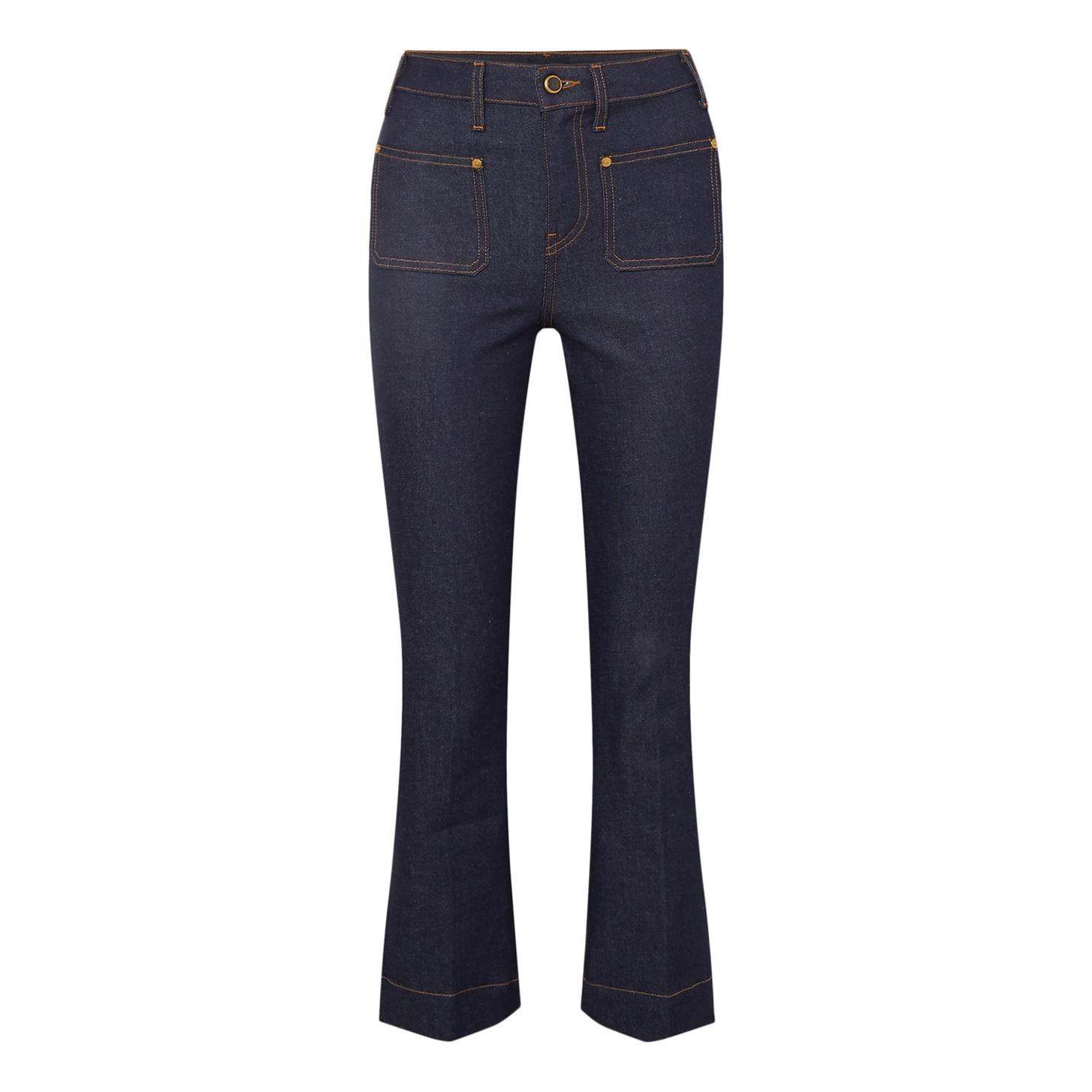 Khaite Raquel Cropped Flared Jeans