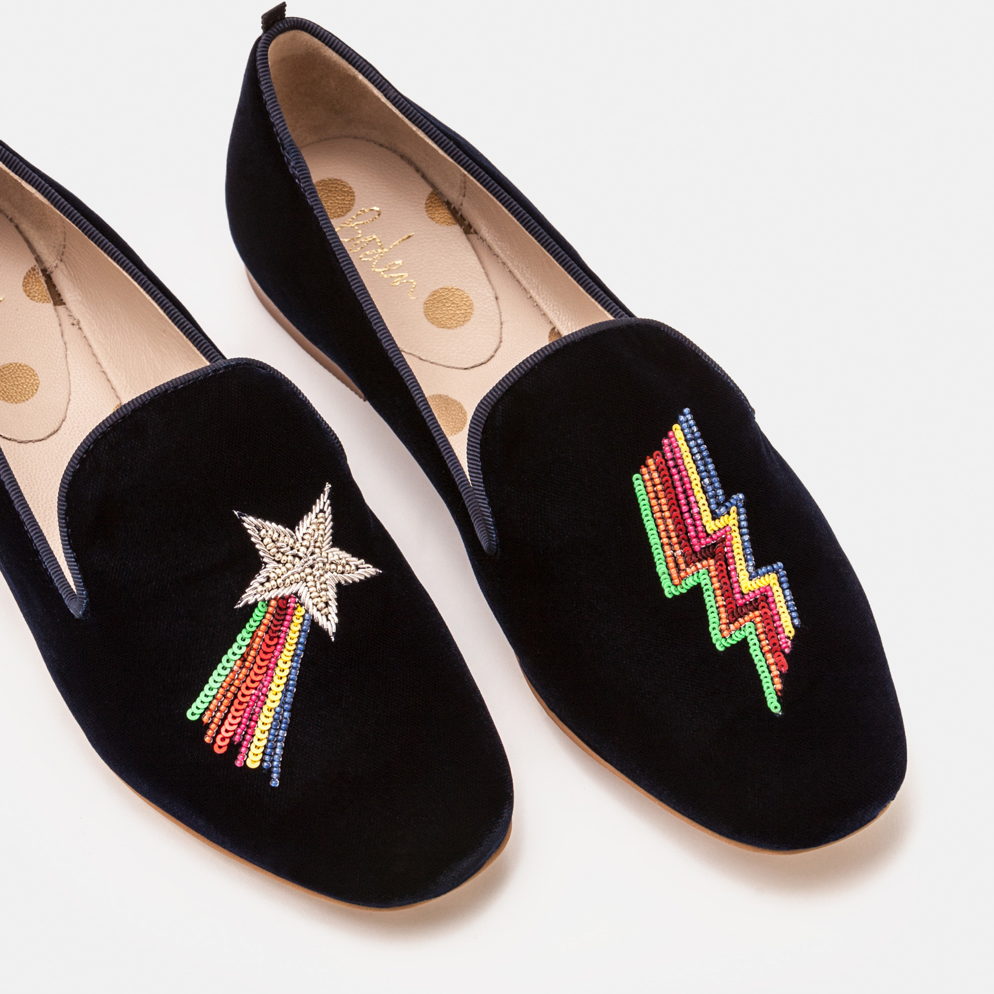 BODEN LUCY EMBELLISHED SLIPPERS