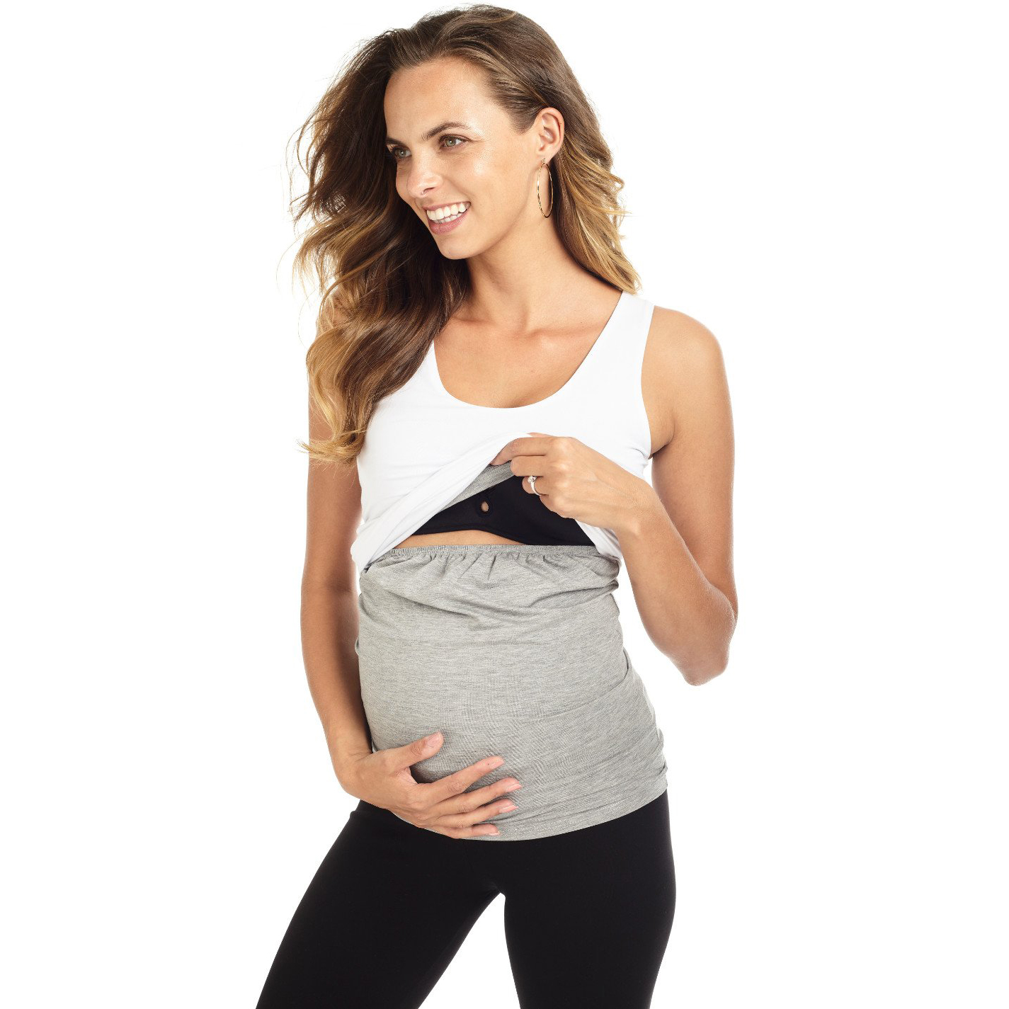 Mama Muse Inés Double-Layered Ruched Nursing Tank
