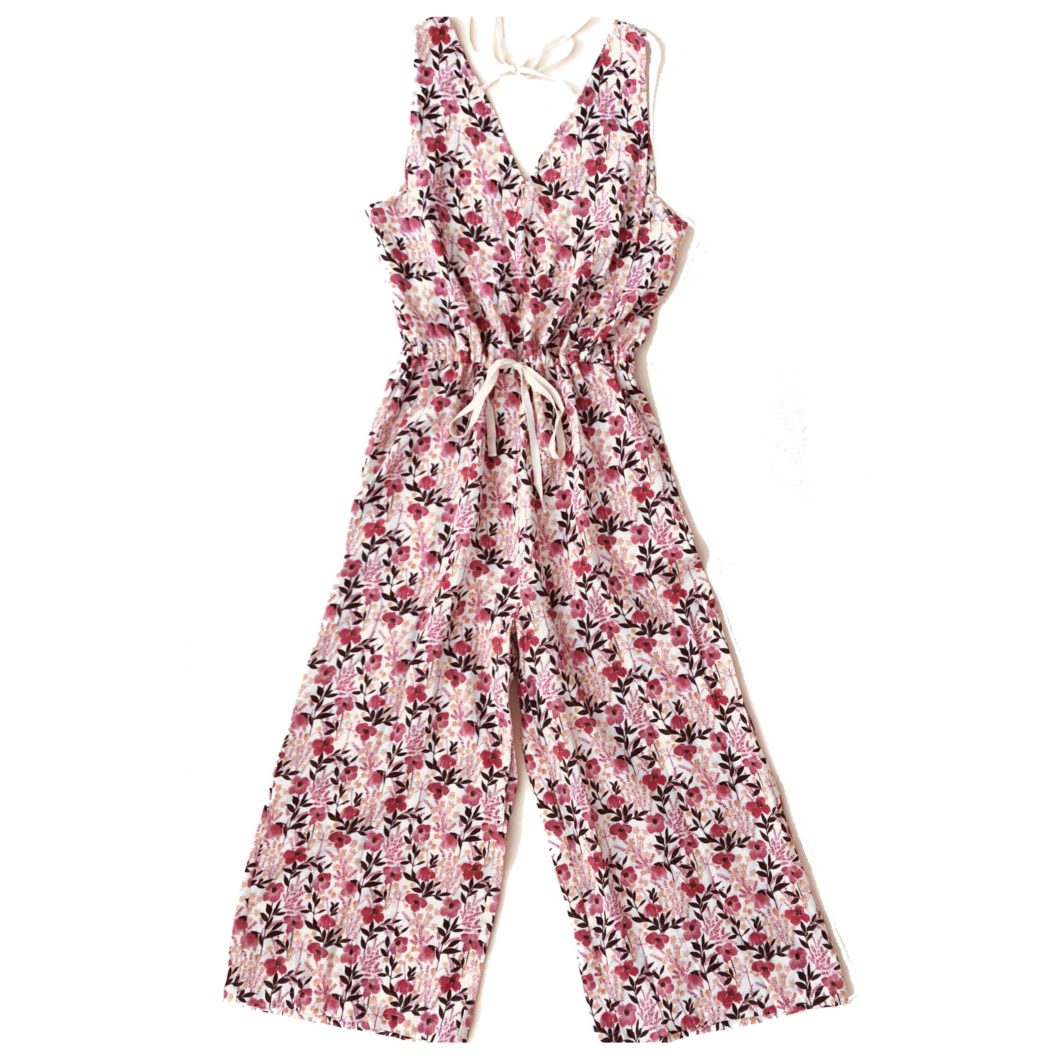 PLAY etc. Floral Jumpsuit Pink