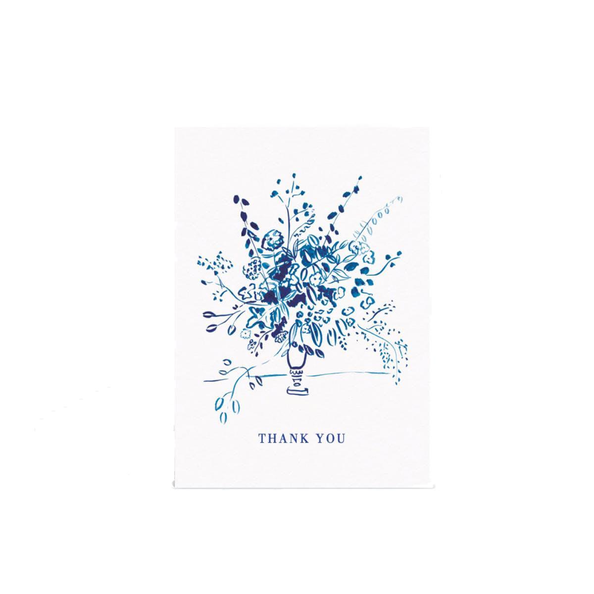 Papier Floral Arrangement Thank You Card