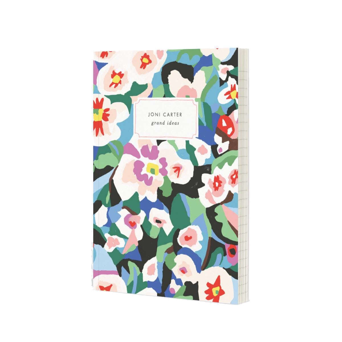 Papier Abstract Flowers Notebook