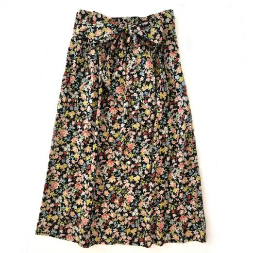 PLAY etc. Dark Floral Midi Skirt