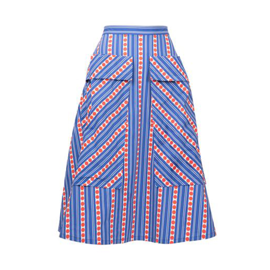 LHD The Bardot Skirt Stripes & Blue Dot