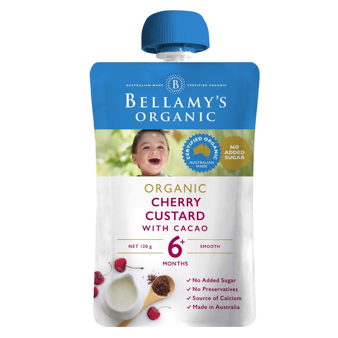 Bellamy's Organic Cherry Custard with Cacao 120g
