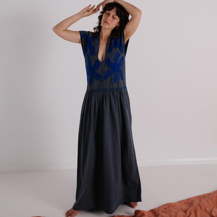 Little Tienda Greta Dress Blue