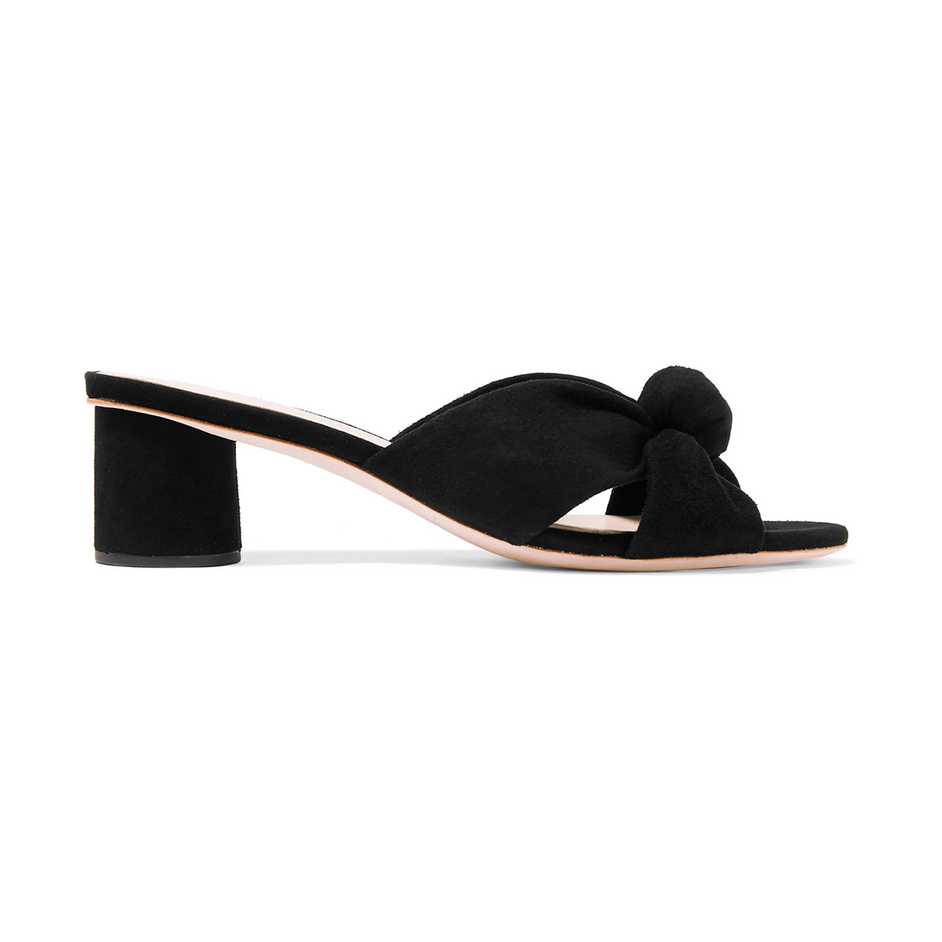 Loeffler Randall Celeste Knotted Suede Mules