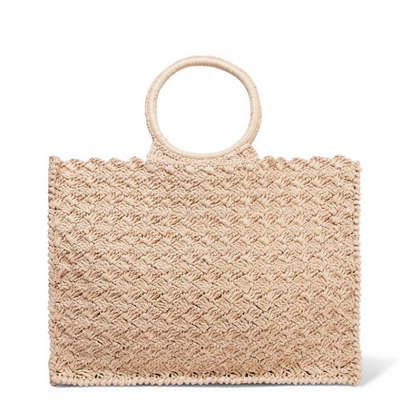 CARRIE FORBES Marisa raffia tote$220.98