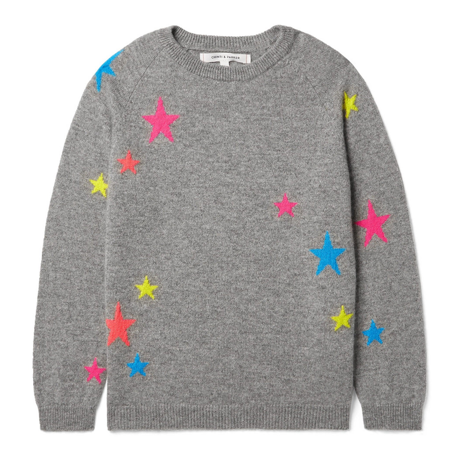 Chinti & Parker Kids Star Intarsia Cashmere Sweater