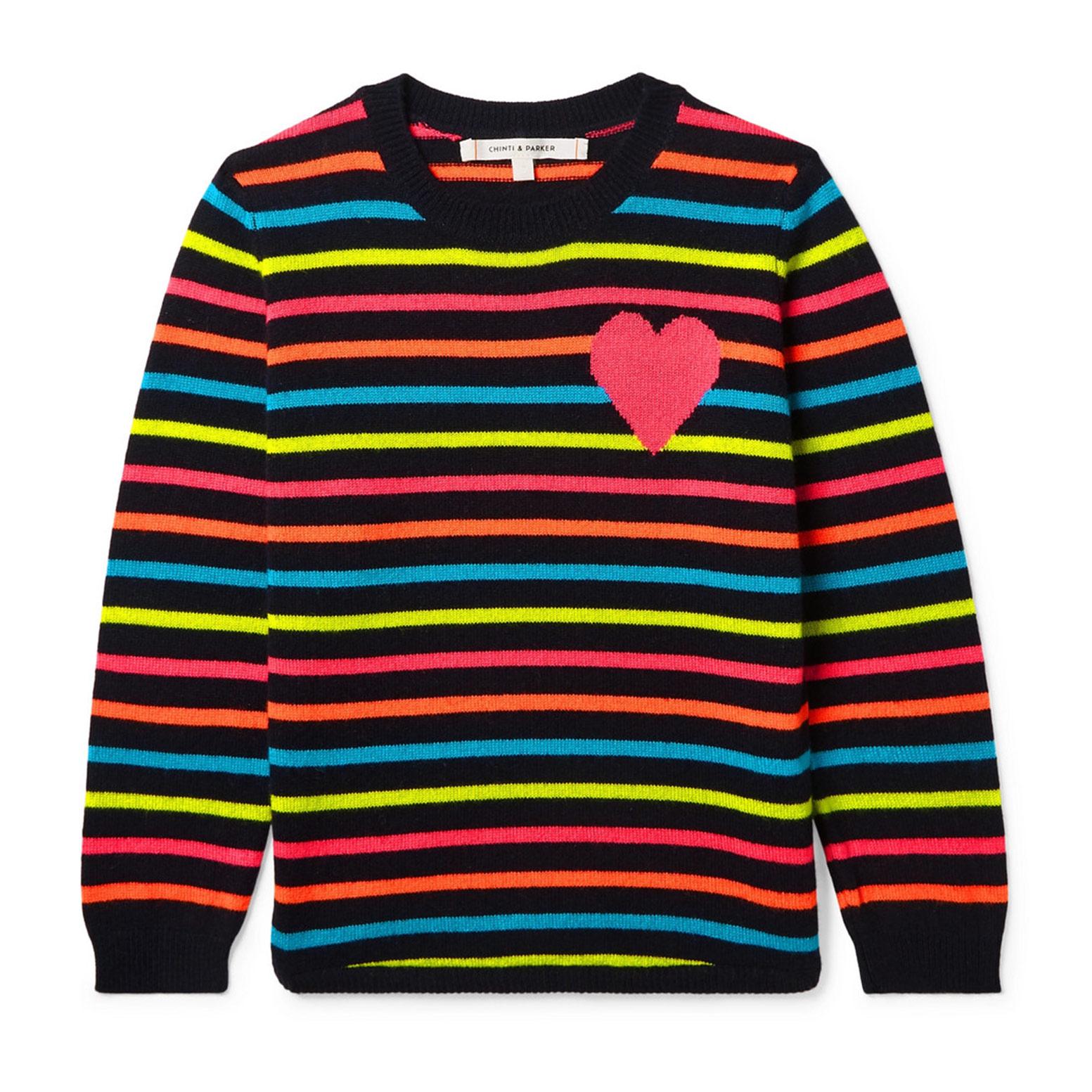 Chinti & Parker Kids Striped Cashmere Sweater