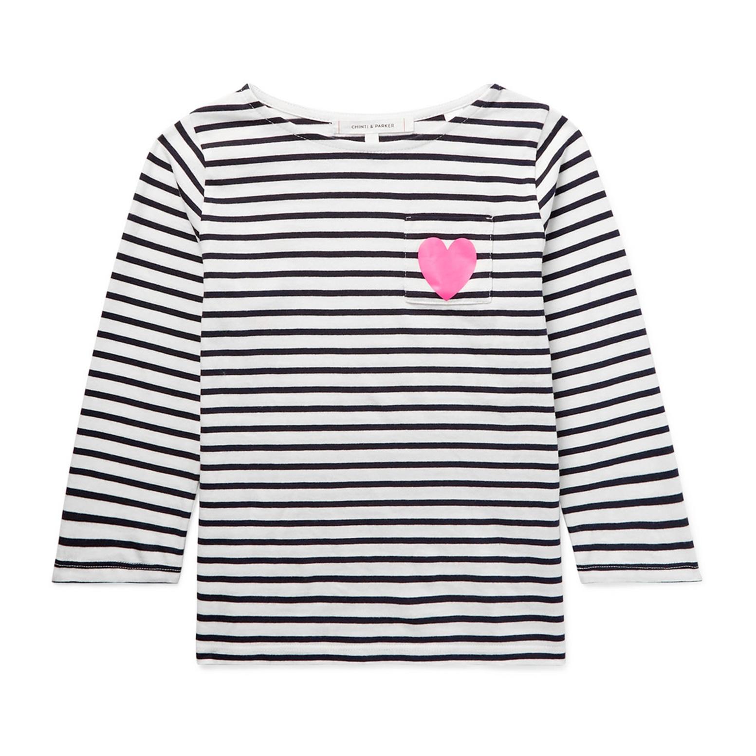 Chinti & Parker Kids Striped Cotton-Jersey Top