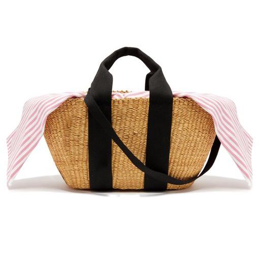Muuñ George Capri Canvas And Woven-straw Bag