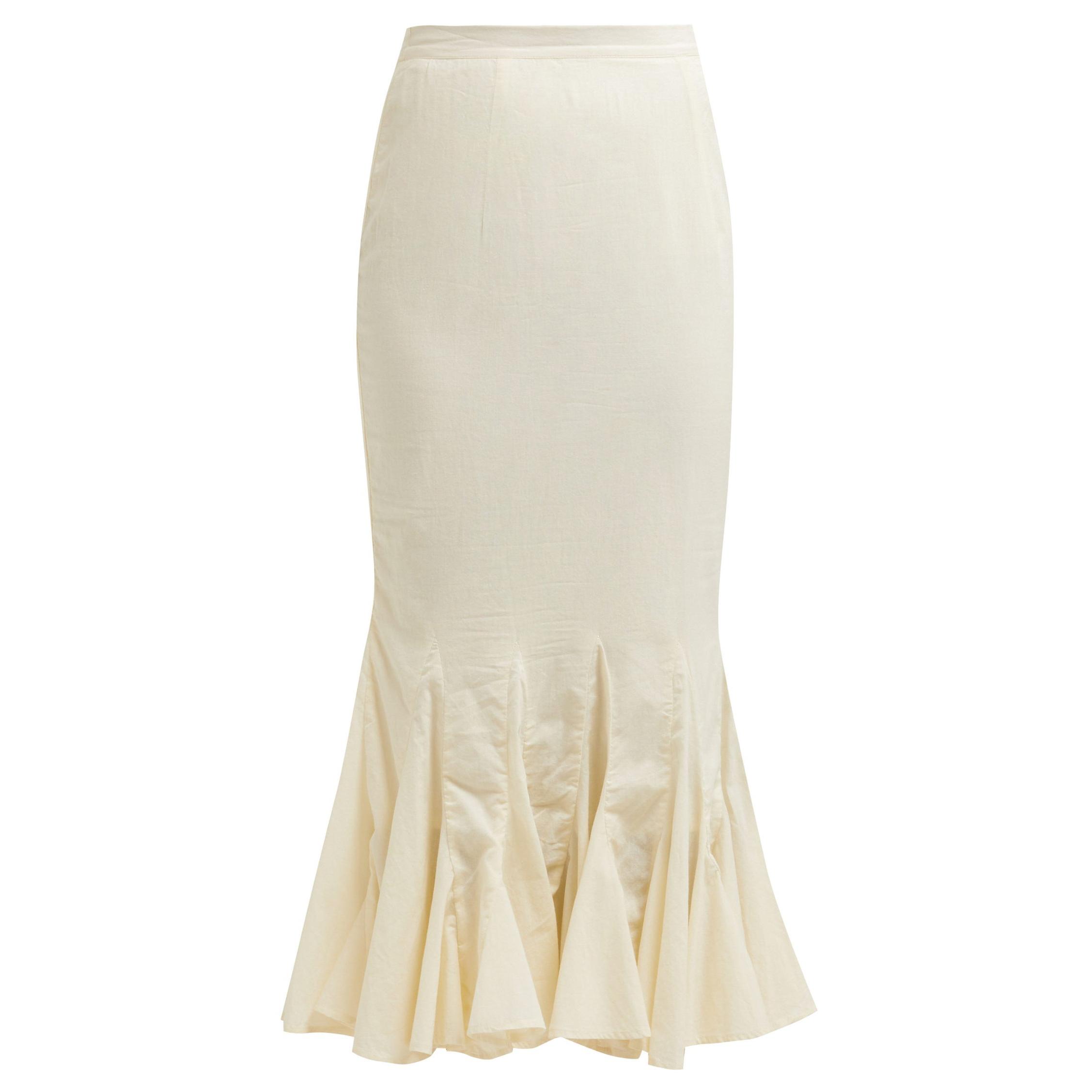 Rhode Resort Sienna Fishtail Midi Skirt