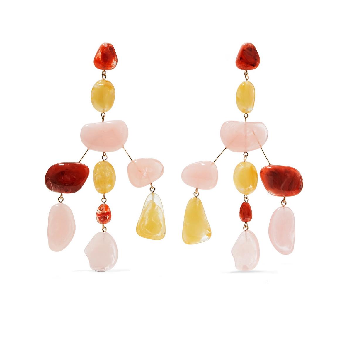 Cult Gaia Sloane Rock Oversized Acrylic Earrings