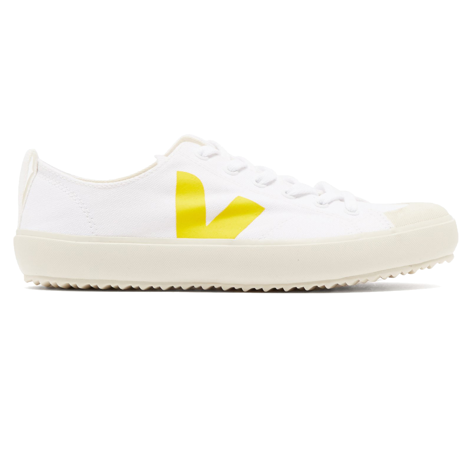 Veja Nova White And Yellow Canvas Trainers