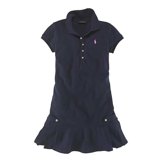 Polo Ralph Lauren Pleated Stretch Polo Dress