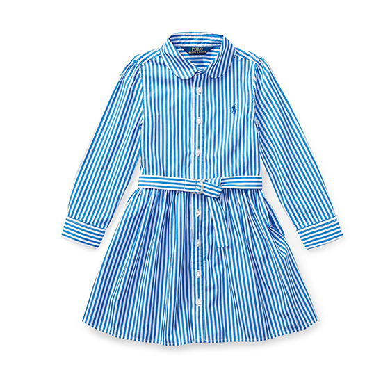 Polo Ralph Lauren Stripe Ruffle Knit Dress – Babies