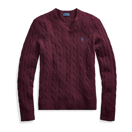 Polo Ralph Lauren Cable Wool Crewneck Sweater