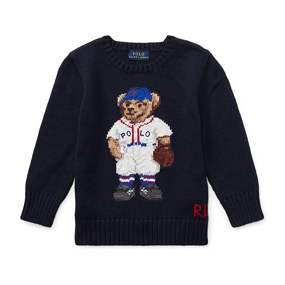 Polo Ralph Lauren Baseball Bear Cotton Sweater