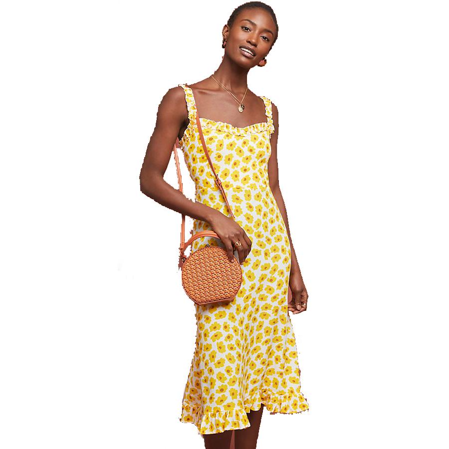 Anthropologie Faithfull Sunflower Midi Dress