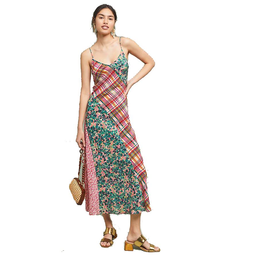 Anthropologie Kachel Elena Silk Slip Dress