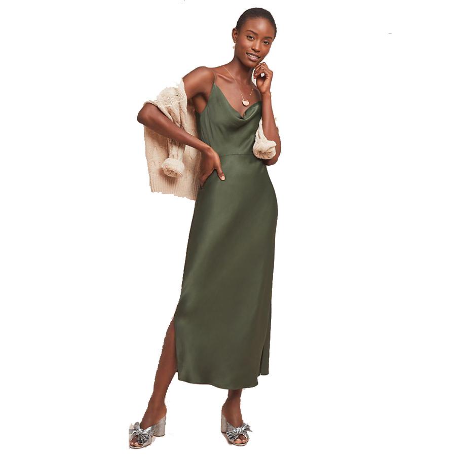 Anthropologie Bias Slip Dress
