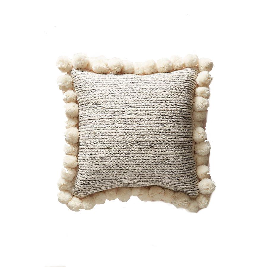 Anthropologie Pommed Jute Pillow
