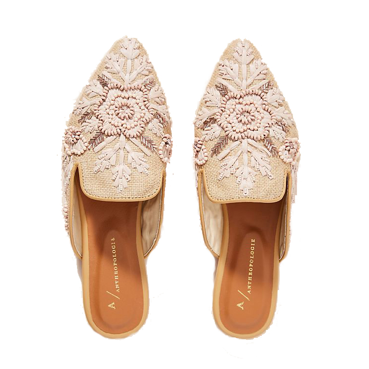 Anthropologie Therese Beaded Mules