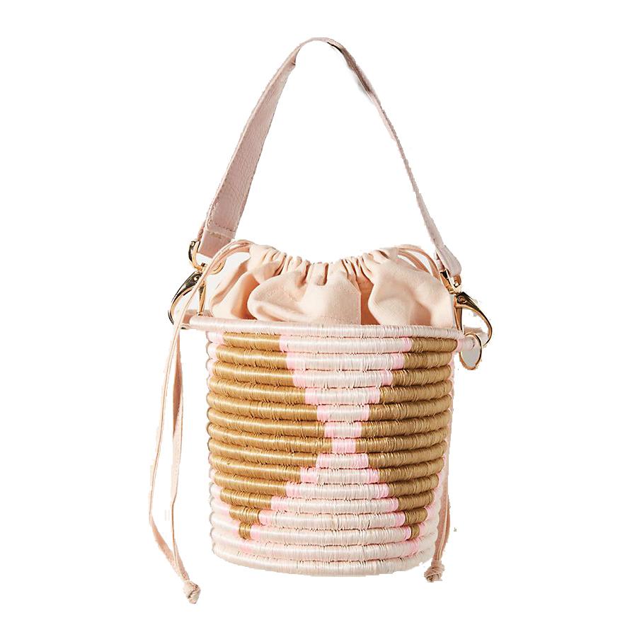 Anthropologie Indego Africa Milo Mini Woven Bucket Bag