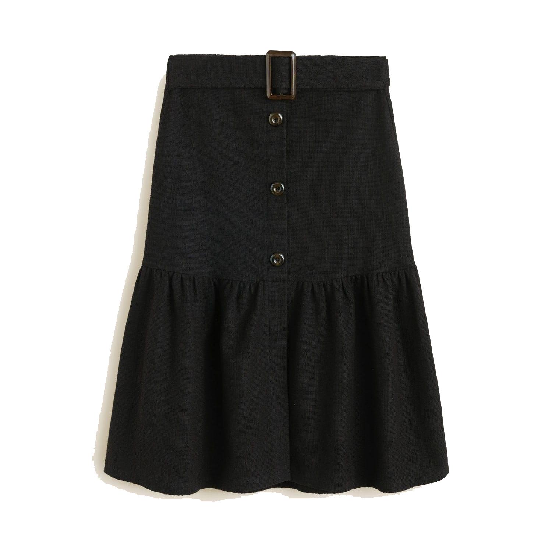 Mango Buckle Cotton Skirt