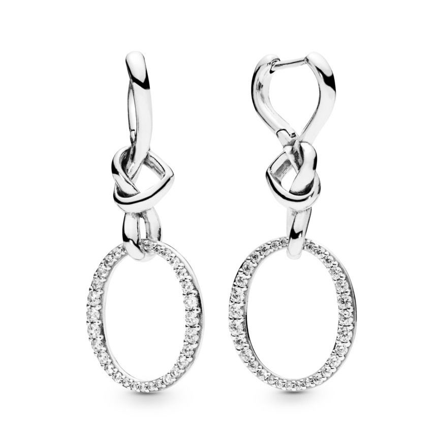 PANDORA KNOTTED HEARTS HANGING EARRINGS