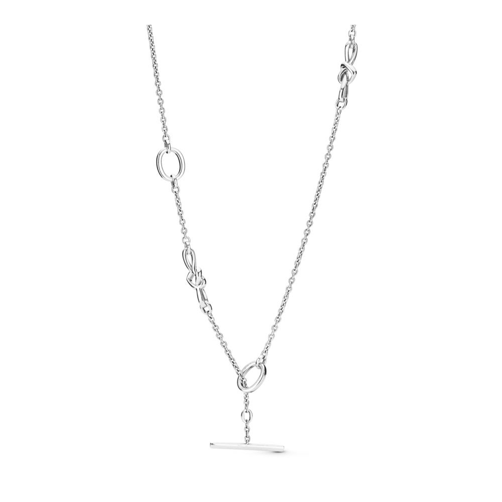 PANDORA KNOTTED HEARTS NECKLACE
