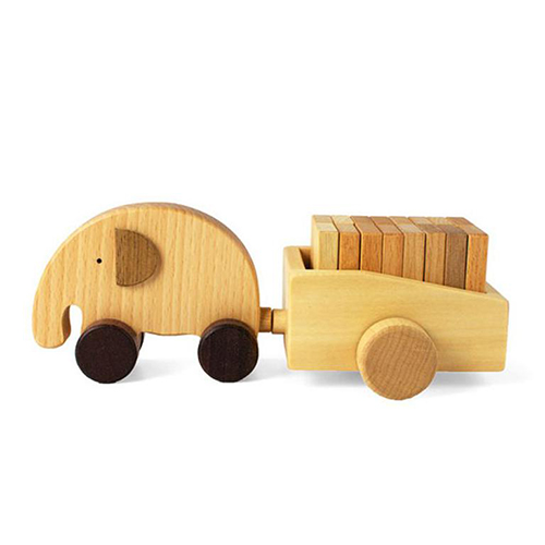 Soopsori Elephant Cart With Dominoes